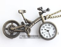 bicycle pocket watch - New fashion cartoon bicycle pocket watch necklace vine jewelry Korean sweater chain of the original single pocket watch