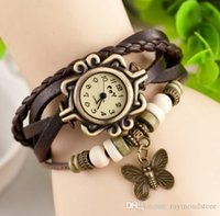 auto battery types - 100pcs Vine fashion lovely flowers cute bow chain women wrist watches Korean type student s watches
