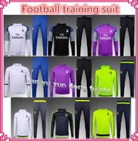 american football latest - 2016 The latest version of the madrid tracksuits Thailand quality pants training suits sweatsuits real jacket and pants