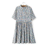 animal pan - Women Fashion Cartoon Print Dresses Pleated Peter Pan Collar Shirts Short Sleeve casual Female brand vestidos