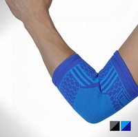 Wholesale 2016 Sports Safety Elastic Elbow Brace Sleeve Elbow Pads for Volleyball Tennis Elbow Support Absorb Sweat Elbow Protection
