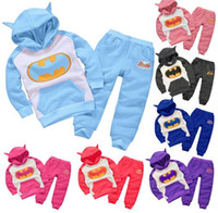 batman hoodies for kids - Baby Batman Clothing Set Children Sport Hoodies Pants Boys Girls Thicken Winter Warm Clothes Outfits for Y Kids