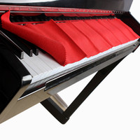 Wholesale High Quality Soft Wool Piano Keyboards Protective Dirt proof Cover Durable Pure Colour Red Piano Dust Cover