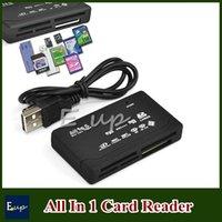 Wholesale All In One Memory Card Reader USB External SD SDHC Mini Micro M2 MMC XD CF Black White DHL
