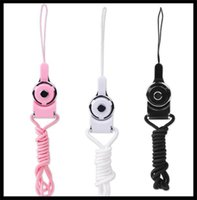 Wholesale 2016 Detachable Lanyard Sling Finger Ring for CellPhone Neck Fashion Universal Hanging Rope Nylon strap Cord Line for iphone