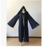 adult jedi costume - Anime Star Wars Costume Unisex Adult Hooded Robe Jedi Knight Cosplay Darth Vader Cloak Cape for Men S XL
