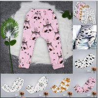 beige color wheel - Kids INS Pp Pants Baby Animal Fox Tights Figure Lemon Haroun Pants Wheels Geometric Cropped Trousers Tent Fruit Leggings Colors A1250 P