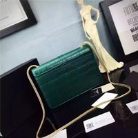 alligator leather goods - very fashion good quality genuine leather brand designer shoulder bag with original box for women