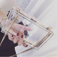 Wholesale 2016 Summer Famous Designer Acrylic Transparent Box Day Clutch Fashion Ladies Mini Handbag Casual Chain Cross Body Shoulder Bag Purse Bolso