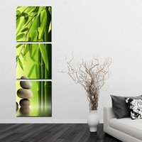 bamboo painting feng shui - 3 Pieces Set Bamboo Painting On Wall Feng Shui Canvas Painting Printed Green Landscape Art Pictures For Modern Room Decorations