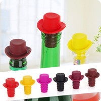 Wholesale 1pc Silicone Wine Bottle Stoppers Keep Vacuum Sealed Kitchen Bar Tools Spout Liquor Flow Stopper Pour Cap Bottle Cover