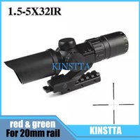 Wholesale KINSTTA tactical Optical Sight MOA Optics Riflescope Adjustable X32IR Rifle Scope With Rise Mount For Hunting Shooting