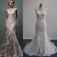 Cheap Cap Sleeves Wedding Dresses Best Juliet Off-Shoulder Mermaid