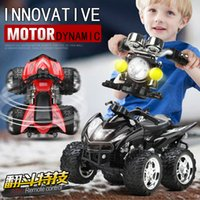 battery toy motorcycle - Hot Toys D RC Car Remote Control Motorcycle Sandy Beach Cross Country WD Dynamic Horn Lights Autobike Kids Toy Vehicle Gift