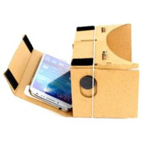Wholesale Google Cardboard Virtual Reality VR Mobile Phone D Viewing Glasses for quot Screen Google Glasses glasses with led light