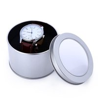 Wholesale Hot Sales Watch Box Paper Tin Plate Watch Case Gift Box mm Round Tinplate Watch Box With Transparent Lid