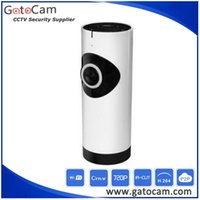 Wholesale 180 Fish Eye Panoramic Wifi IP Camera Support G TF Card IR Day and Night Baby Monitor