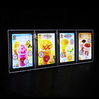 acrylic menu stand - A4 stand acrylic photo frame led illuminated picture lightbox restaurant menu boards