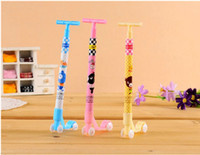 art scooter - whilesale Creative Scooter ball pen cute cartoon Korean stationery gift pupils prizes