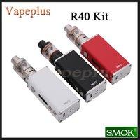 Wholesale Original Smok R40 Kit with W TC Box Mod Vape mah Battery Support SS NI200 TI Wire ml Micro BasicTank Hookah