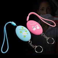 Wholesale 120dB Loud Personal Anti Rape Security Alarm Attack Emergency Keychain pink