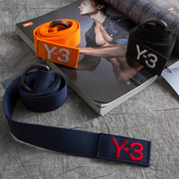 Wholesale Yohji Y3 Yamamoto belt men and women brand canvas belt new hot Fashion Accessories Leisure Unisex Y3 belt