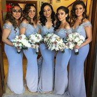 Wholesale 2016 Stretch Long Mermaid Bridesmaid Dresses Sheer Lace Applique Sweetheart Floor Length Women Formal Wedding Party Gown