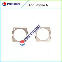 Volver trasera frente a la cámara de retención de piezas de repuesto del anillo del metal del clip del soporte para el iPhone 6 4,7