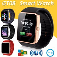 GT08 montre Smart Watch Bluetooth 6261D IC Emplacement pour carte SIM NFC Santé Watchs Porter Android Samsung IOS Apple iPhone Smartphone Bracelet Smartwatch