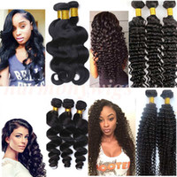 Wholesale Brazilian human hair weave Hair weft Body wave inch Unprocessed Brazilian hair bundles Peruvian Malaysian Indian dyeable hair extensions