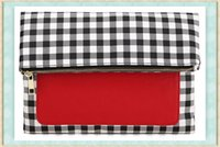 Wholesale IPad Holder Clutch BUY ONE GET ON FREE Popular Day Clutches for Ipad Protection Fold Over Style Gingham GJX002