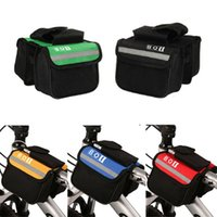 bicycle front rack bag - 2L Bicycle Cycling Bag with Cell Phone Bag Bike Top Tube Saddle Bag Bicycle Frame Pannier Bag Rack Bicycle Accessories