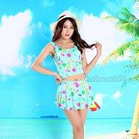 Cheap 2016 new female swimsuit cartoon swimsuit skirt style swimsuit Korea split Bathing suit