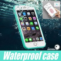 apple waterproof case - 2016 Iphone S7 Waterproof Case TPU Rubber Full Boday Cover For iphone s plus s Shock proof Dust proof Underwater Diving Cases