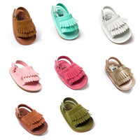 Wholesale New high quality Summer baby moccasins sandals soft soles and elastic baby shoes prewalker Infant Babies Shoes colors