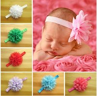 baby fabric headbands - 2016 infant baby newborn headbands children s chiffon flower fabric flowers for headbands children girls hair accessories
