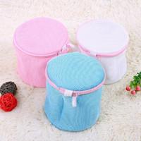 Wholesale 200pcs X17cm Colorful Women Bra Laundry Bags Lingerie Washing Hosiery Saver Protect Aid Mesh Bag Cube ZA0840
