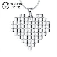 amazon europe - Wish Amazon jewelry Ma am Europe and America pendant foreign trade Heart shaped pendant fashion Silver Necklace Best Sellers