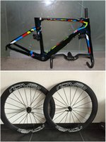 Wholesale ViAS Tinkoff Saxo Peter Sagan Full Carbon Fiber T1000 road bike carbon frame Roval mm carbon wheelset