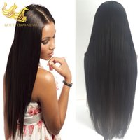 Wholesale Virgin Straight Full Head Hair Extensions Swiss Lace Human Hair Wigs Beyonce s Hairstyle Remy Lace Front Human Hair Wigs