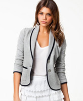 Wholesale Hot Europe Autumn New Women Slim Thin Short Paragraph Small Suit Jacket Women Casual OL Coat Jacket Ladies blazers