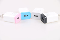 android iphone port - AAA Travel USB Charger US plug A Mobile Phone AC Power Adapter Colorful Edge Chargers port for Iphone and Android