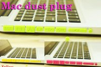 Wholesale Colorful Silicone Anti Dust Plug USB Data Ports Cover Set For MacBook Pro Retina Air Laptop Notebook Dustproof Stopper