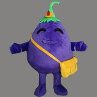 angels dress bags - New Style Adult Size Purple Eggplant Costume Halloween Christmas Vegetables Eggplant Yellow Bag Cartoon Mascot Clothing Party Fancy Dress