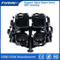 Wholesale High Quality Aluminum Alloy Degrees Spherical Panorama Bracket Panoramic Frame Mount for Hero Cameras