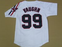 Wholesale Indians Ricky Vaughn white baseball jerseys youth szie S and M mix order