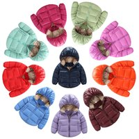 Wholesale Children Winter Coats Hooded Baby Parkas White Duck Down Jackets Kids Warm Outwear Outdoor Tops Boys Girls Thicker Clothing Waterproof