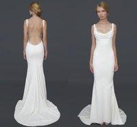 barcelona beach - 2016 Summer Barcelona Dresses Wedding Spghetti Strap Mermaid Floor Length Garden Beach Bridal Gown Katie May Formal Wear Custom Made