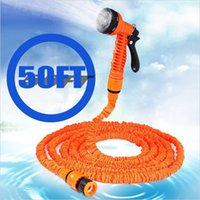 Wholesale Expandable Magic Garden Mangueira Hose Water for Yard and Car Pipe Watering Plastic Connector With in Spray Gun Spray Nozzle