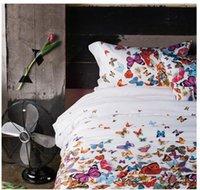 ashley fabrics - Soft satin cotton LAURA ASHLEY luxury bedding set butterfly comforter set fabrics bed linen